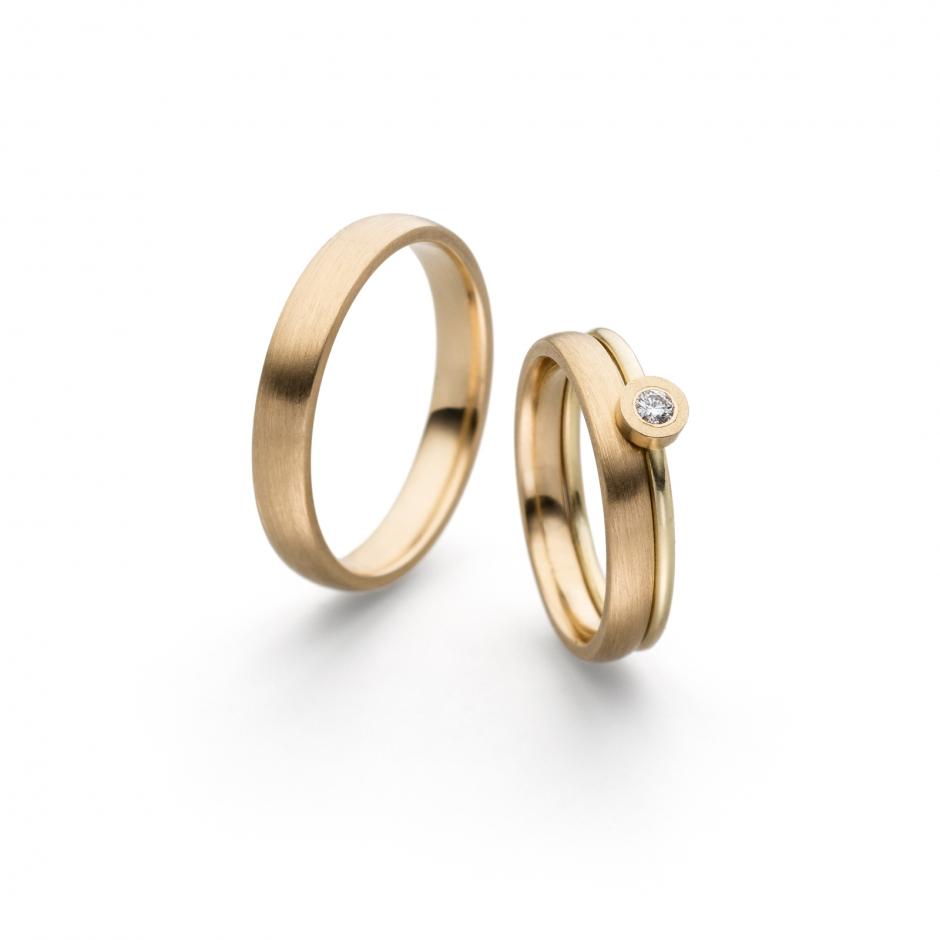 Verlobungsring / Beisteckring Gelbgold